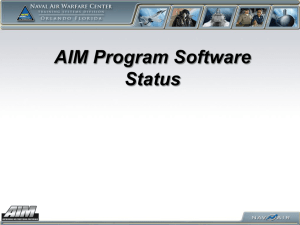 AIM Software Status