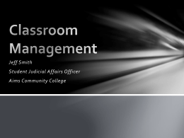 Classroom Management - Aims Community College