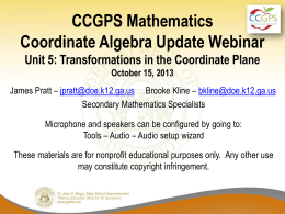 Oct15_MathCAUnit5Update - Georgia Mathematics Educator