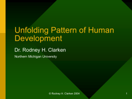 Unfolding Pattern of Human Development