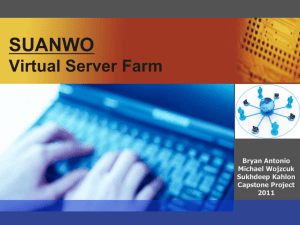 SUANWO Virtual Server Farm