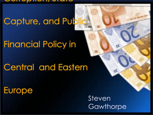 Corruption, Influence, and State Capture: Are Public Expenditures