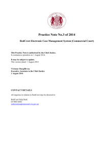Practice Note No.3 of 2014 RedCrest Electronic Case Management