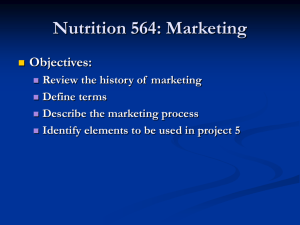 Nutrition 564: Marketing