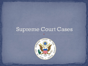 unit 5 Supreme Court Cases