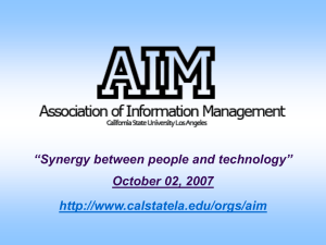 AIM - Association of Information Management