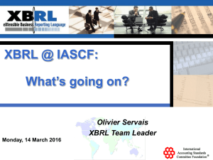 XBRL at the IASC Foundation