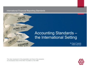 Accounting standards - the International setting