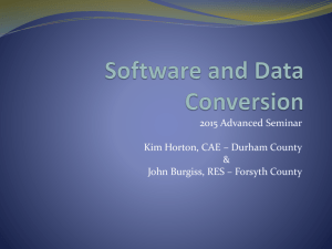Software and Data Conversion