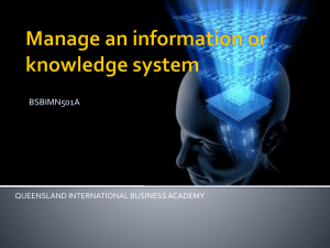 Manage and information or knowledge system