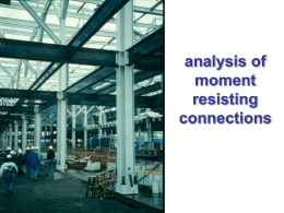Analysis of moment connections