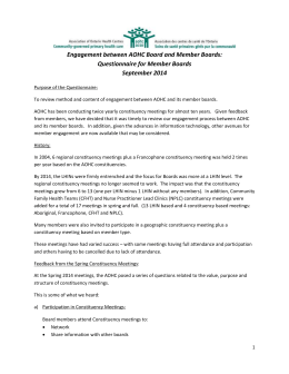 AOHC - Questionnaire for Member Boards