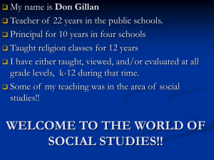 welcome to the world of social studies!!