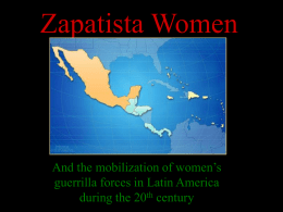 Zapatista Women - Capital Social Sul