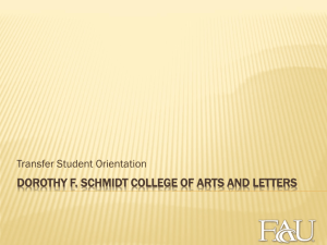 Dorothy F. Schmidt college of arts and letters