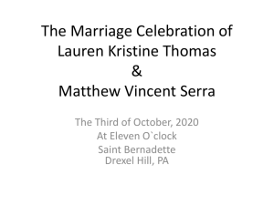 The Marriage Celebration of Lauren Kristine Thomas