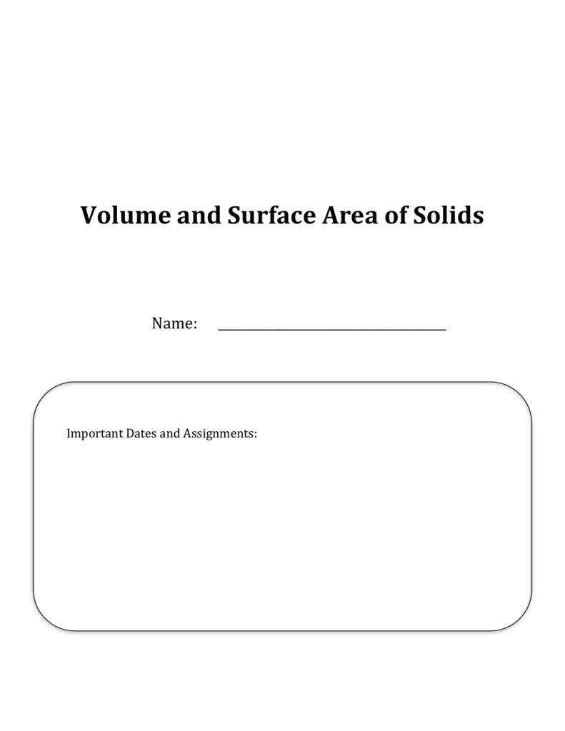 worksheet Volume Of Solids Worksheet volume of a prism math with ms shakow