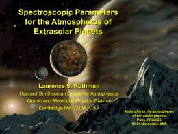 ROTHMAN, Spectroscopic Parameters for the Atmospheres of