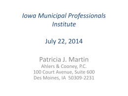 Presentaion ( Pat Martin) - Iowa State University Extension and