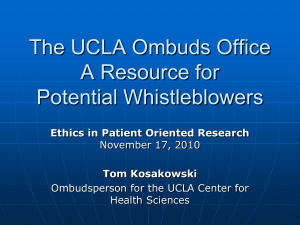 The UCLA Ombuds Office