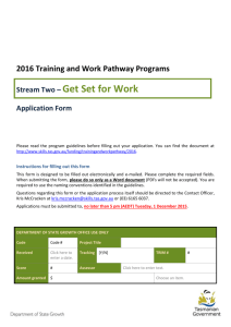 Stream Two Get Set for Work - application