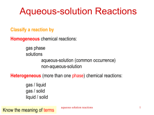 Aqueous-solution reactions