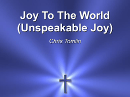 Unspeakable Joy