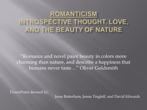 Romanticism Introspective Thought, Love, and the - English-12-Wiki