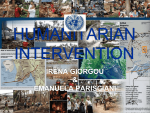 Humanitarian Intervention - Graduate Institute of International and