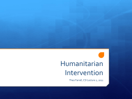 Humanitarian Intervention and State Sovereignty