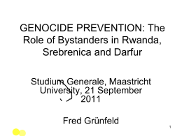 COMPARATIVE GENOCIDE AND HUMANITARIAN INTERVENTION