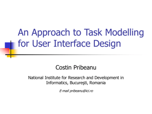 An Approach to Task Modeling for User Interface Design