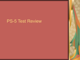 PS-5 Test Review - Purdyphysicalscience