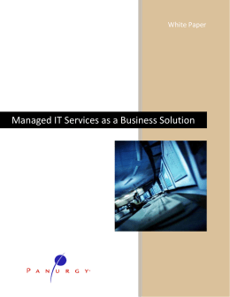 Managed IT Services Whitepaper