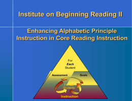 Explicit Phonics Instruction – Continued
