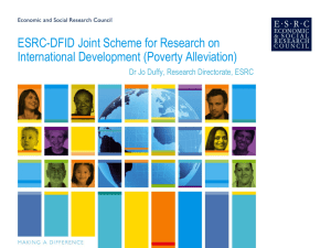 ESRC-DFID Joint Scheme for Research on International Development