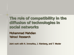 The role of compatibility in the diffusion of technologies in social