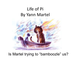 a review of the life of pi a novel by yann martel Yann martel was born in spain in 1963 of canadian parents after studying philosophy at university, he worked at odd jobs—tree-planter, dishwasher, security guard—and traveled widely before turning to writing at the age of twenty-six.
