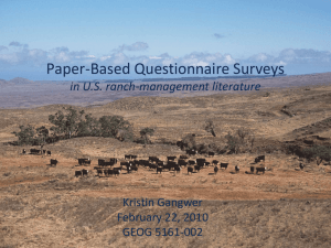 Paper-Based Surveys