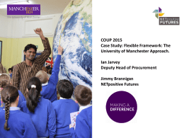 Case Study:How the University of Manchester
