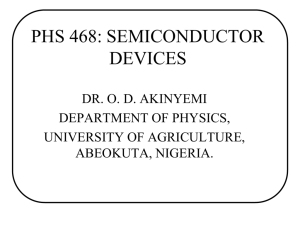 PHS 468 - The Federal University of Agriculture, Abeokuta