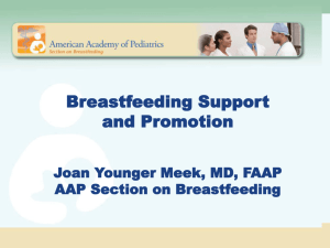 Management of Common Breastfeeding Problems