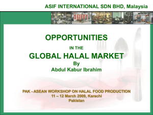 opportunities in the global halal market