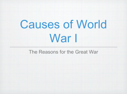 Causes of WW1 ppt.