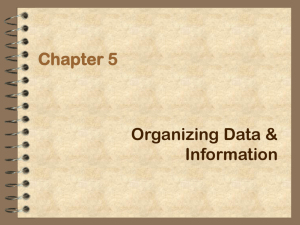Chapter 5: Organizing Data and Information