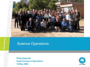 Science Operations - Australia Telescope National Facility