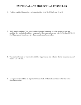 Chapter 7 (pp234-248) Name Empirical formulas, hydrated