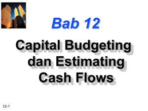 Chapter 12 -- Capital Budgeting and Estimating Cash