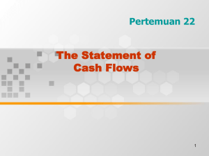 STATEMENT OF CASH FLOWS, 2005