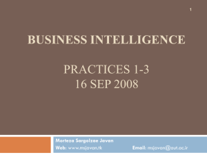 Business Intelligence - Practice 1-3